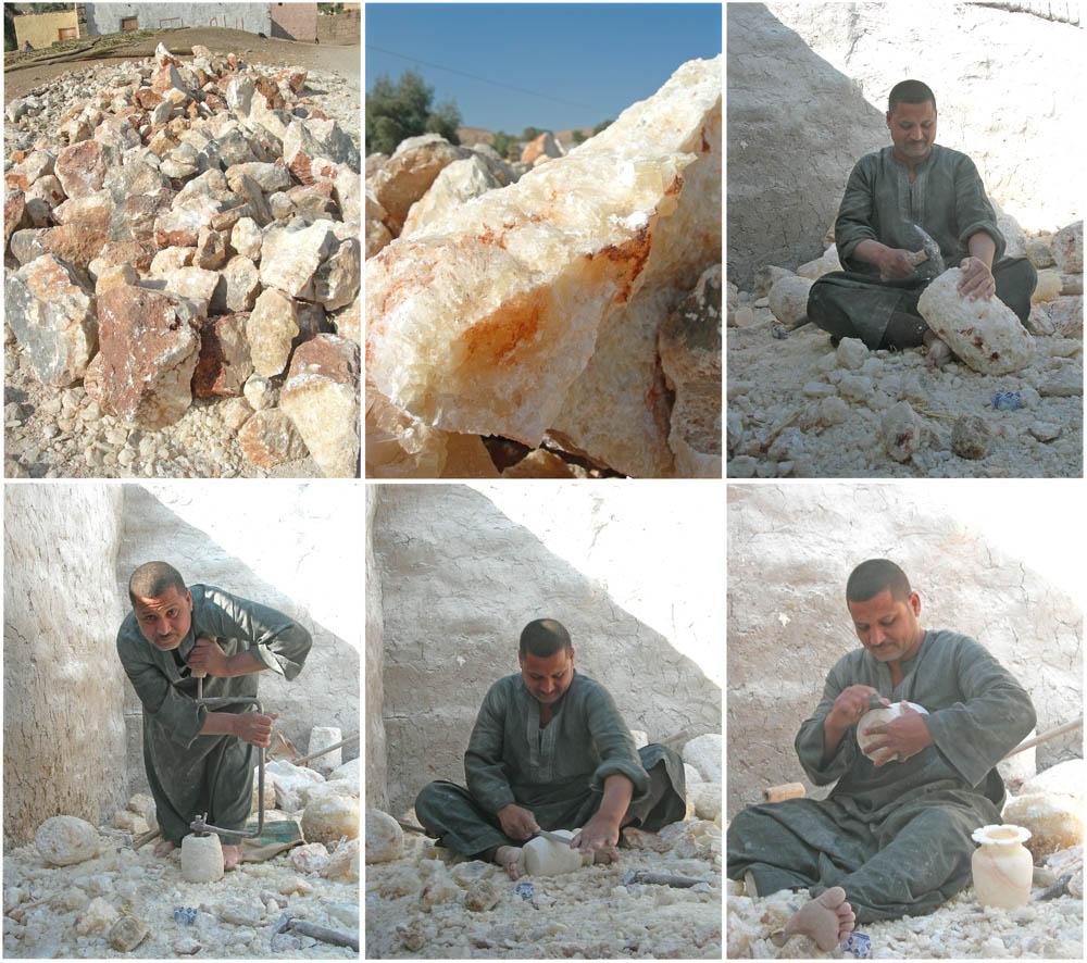 Hoe worden albast kaarshouders gemaakt?