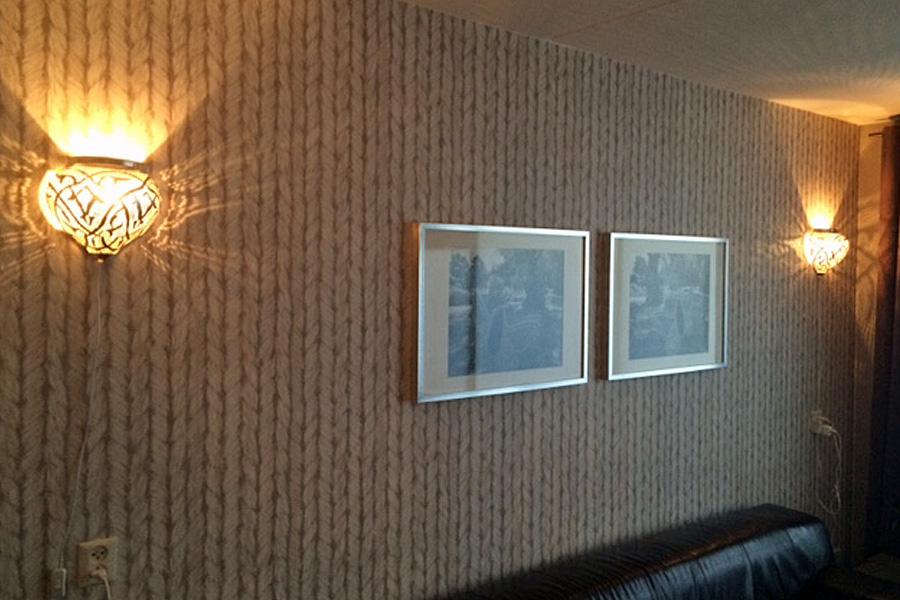 Oriental wall lights Mieja in living room