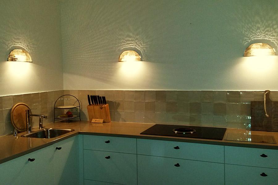 wandlampen verlichting werkblad keuken