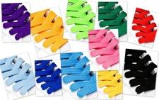 Veters in verschillende kleuren