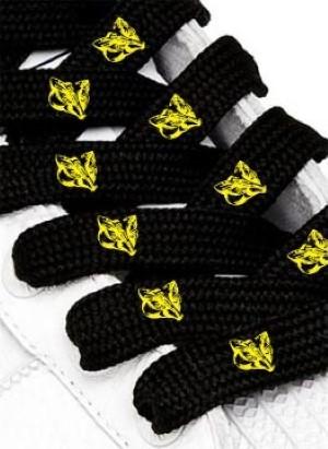 Veters met logo (voorbeeld) geel zwart