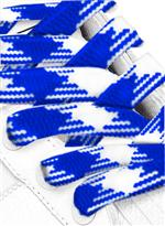 Woven Royal Blauw Wit