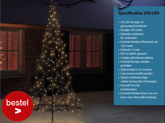 Fairybell 250 Led kerstboom kerstverlichting
