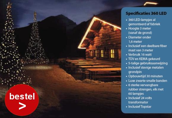Fairybell 360 Led kerstboom kerstverlichting vlaggenmast