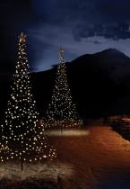 Fairybell kerstboom vlagggenmast kerstverlichting