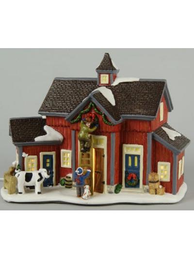 Lumineo kerst dorp collectie met verlichting   Verlichte boerderij   Verlichte kerst stad voor
