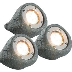 SET VAN 3X LAPIS LED SPOT 12 VOLT COMPLETE SET