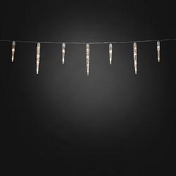 ijspegelsnoer met 96x warmwitte LED