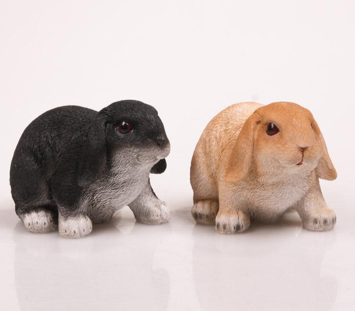 Dierenfiguur hangoor konijn levensecht (Set)