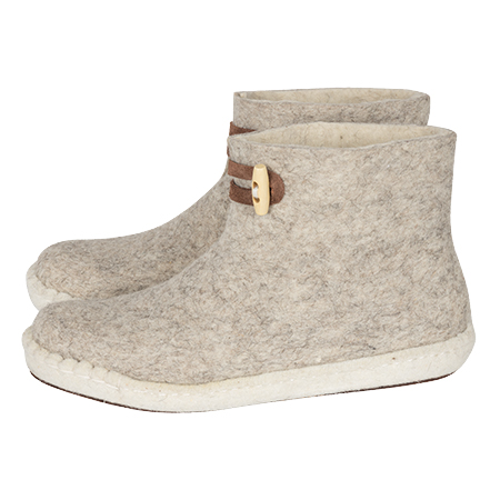 Vilten herenslof  High Boots light grey