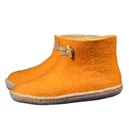 Vilten herenslof  High Boots yellow