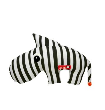 Soft toy 2D Zebee black