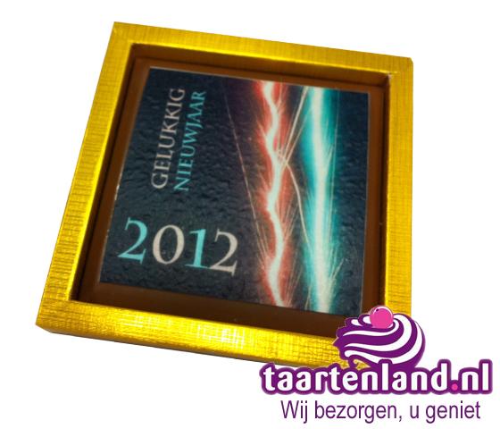 Chocolade Gelukkig Nieuwjaar tablet