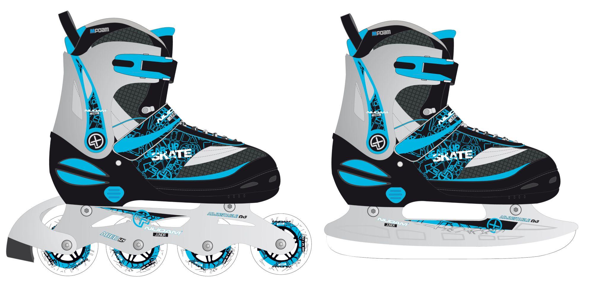 Nijdam schaats/skeeler combi maat  31-34