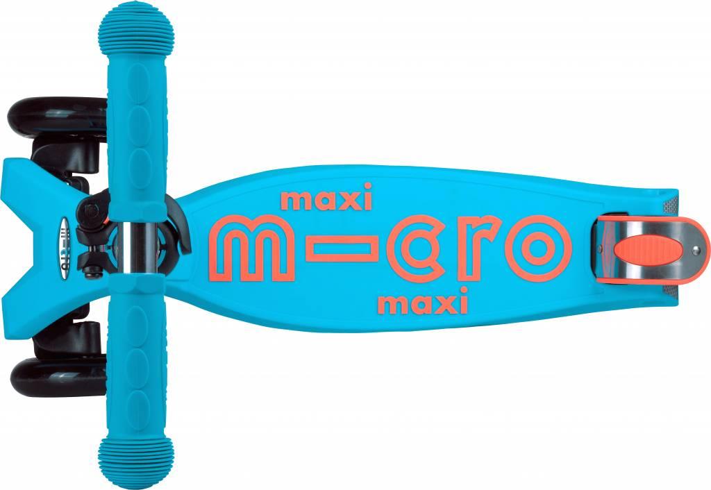 Maxi Micro step Deluxe Aqua-oranje met T-bar 5-12 jaar