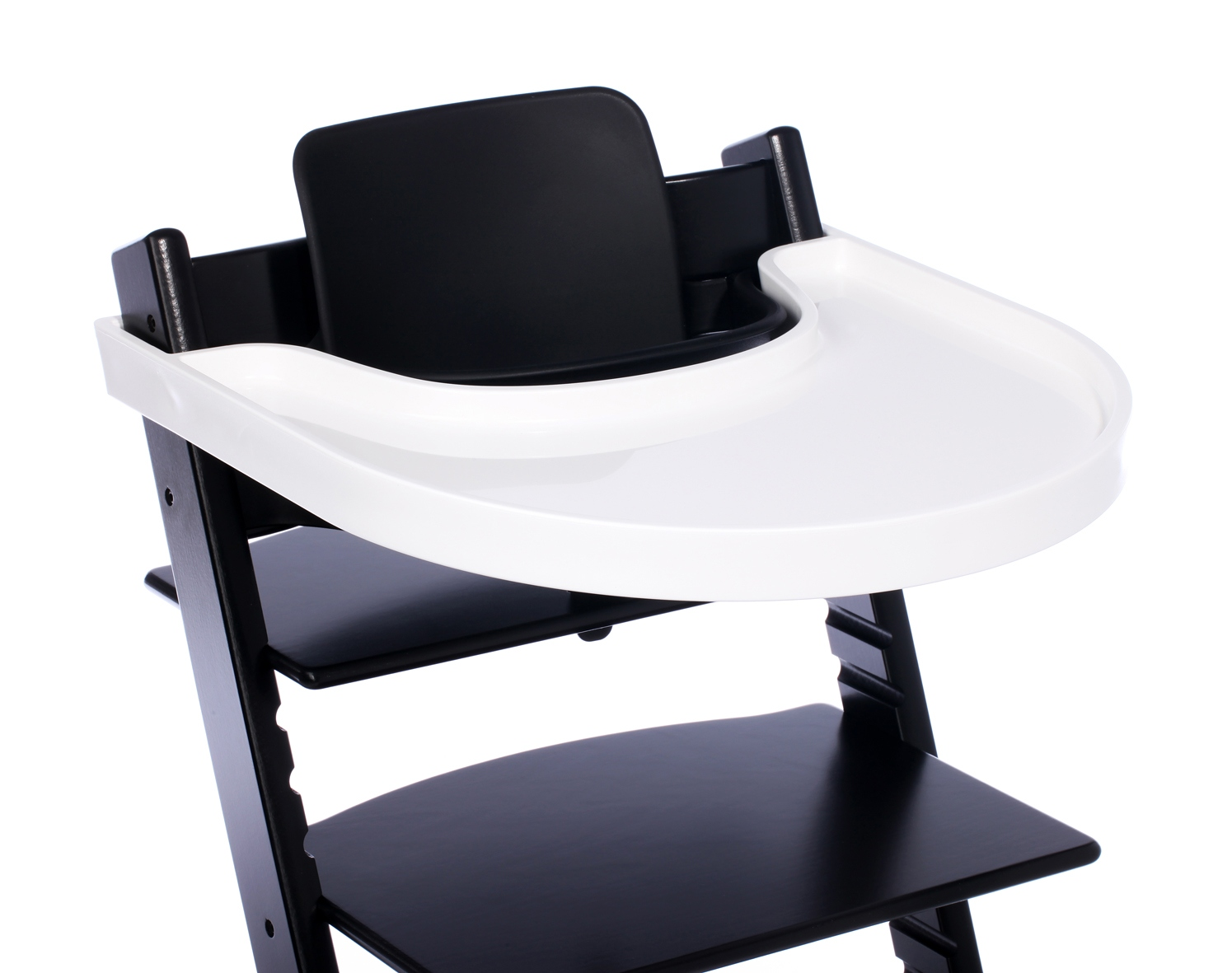 playtray for stokke tripp trapp high chair in white return ebay. Black Bedroom Furniture Sets. Home Design Ideas