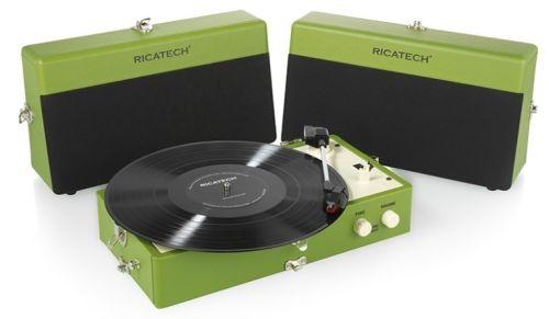 Ricatech RTT80 Platenspeler (Groen)<br />OPRUIMING!