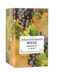 Grenache Rouge<br />Ch�teau de Pierreux, Odenas.<br />Bag-in-Box 10 Liter
