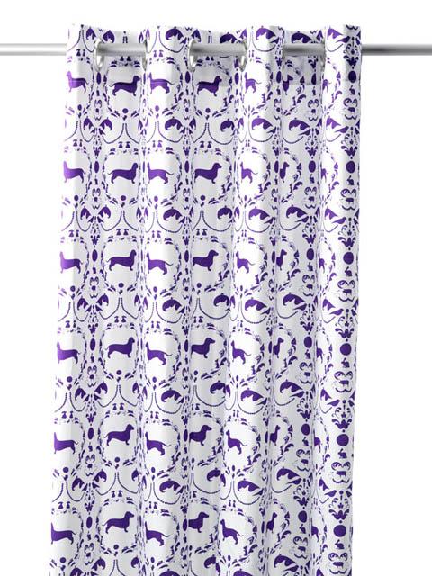 gordijn kant en klaar jip in paars incl zeilringen mooi gordijn dat ...