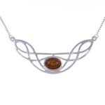 Ketting Celtic Bow barnsteen (amber)