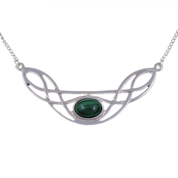 Ketting Celtic Bow malachiet