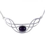 Ketting Celtic Bow amethyst