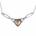 Ketting Copper Heart Twist