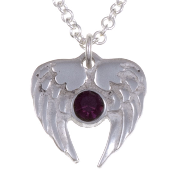 Ketting Angel Heart amethyst