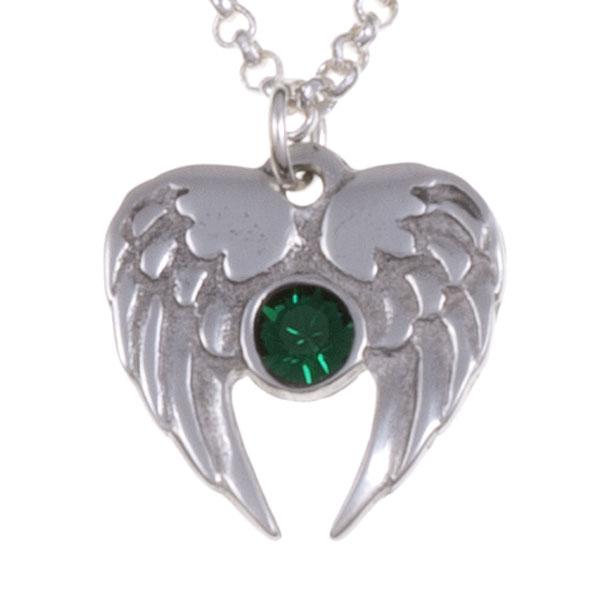 Ketting Angel Heart smaragd groen