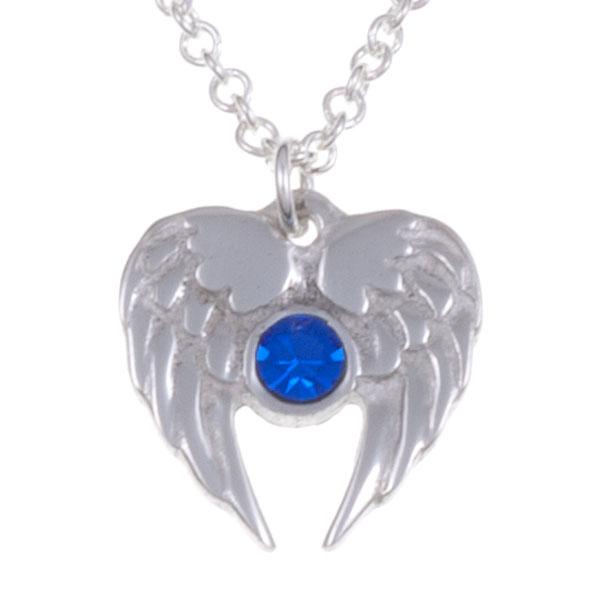 Ketting Angel Heart saffier blauw