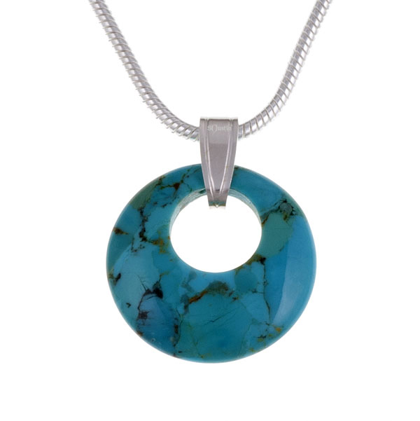Ketting Geo Circlet Turquoise