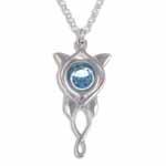 Ketting Elvish Star blue crystal