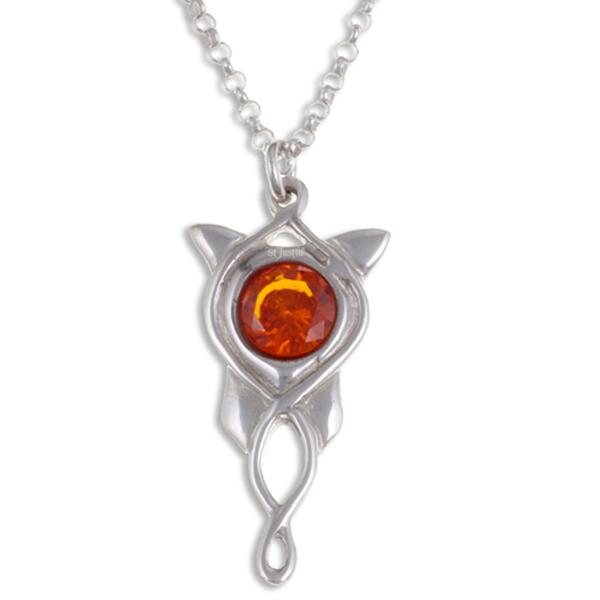 Ketting Elvish Star opaal crystal