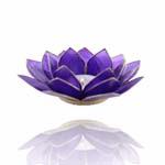 Lotus Capiz Sfeerlicht Chakra 6 indigo met gouden randen