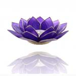 Lotus Capiz Sfeerlicht Chakra 6 indigo met zilveren randen