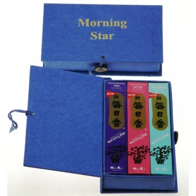 Wierook Morning Star Giftbox Gardenia, Lotus en Iris