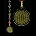 Chakra Kristal Bloem des Levens goud
