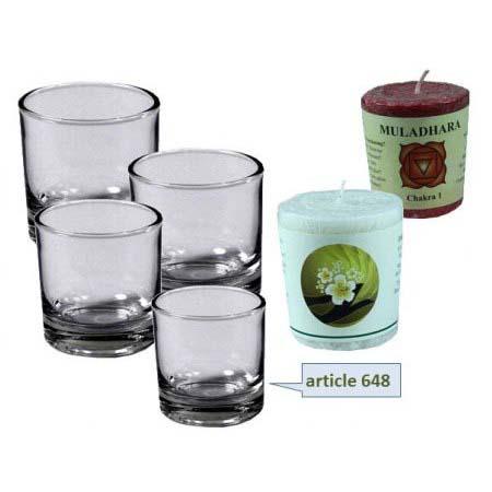 Glaasje voor mini kaarsen