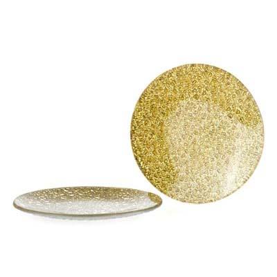 Kaarsenschotel Bronskleurig glas