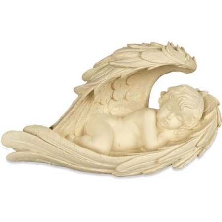 Beeld Sleeping Angel in Wings 22 cm