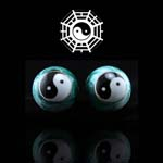 Meridiaankogels Yin Yang/Tai Chi (geel) 4 cm