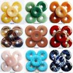 Edelstenen Donuts 40mm