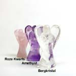 Edelsteen Engel Roze Kwarts 4 cm