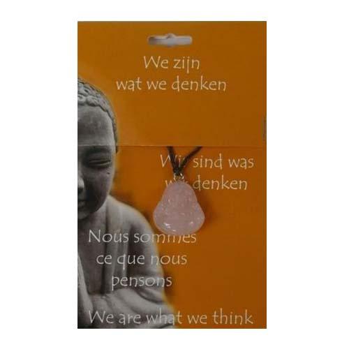 Boeddha Hanger Roze Kwarts