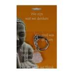 Boeddha Sleutelhanger Roze Kwarts