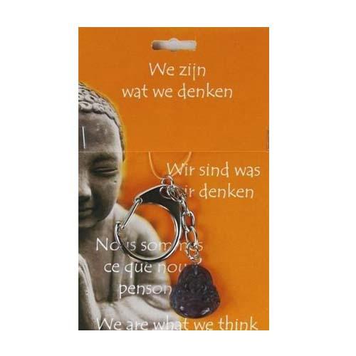 Boeddha Sleutelhanger Fluoriet