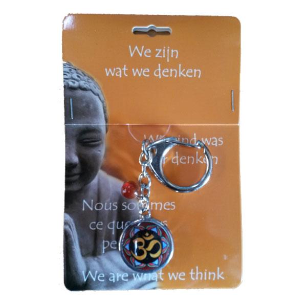 Boeddha Sleutelhanger Ohm Teken
