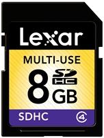 Lexar - SDHC CARD 8GB