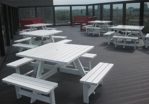 picknicktafels vierkant wit