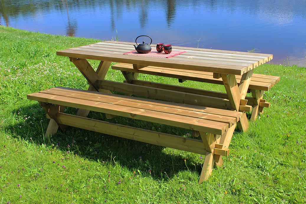 Bouwtekening picknicktafel praxis